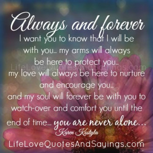 love you forever quoteill always and forever