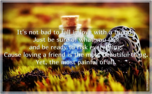 To Fall In Love With A Friend, Picture Quotes, Love Quotes, Sad Quotes ...