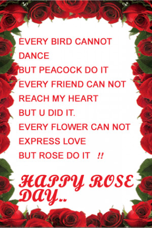Happy Rose Day Quotes 2015 SMS Messages Images Wallpaper 2015