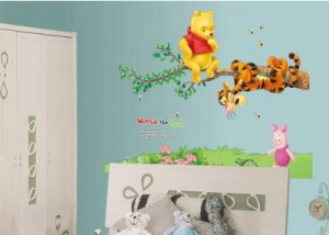 ankin-winnie-the-pooh-tiger-sitting-on-a-branch-wall-sticker-and-decal ...