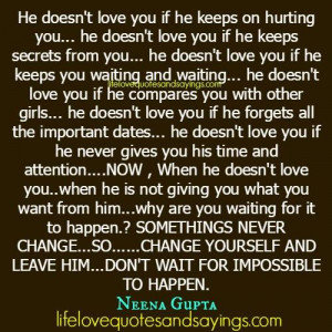 if he keeps on hurting you..