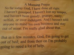 God, Grant Me The Serenity...