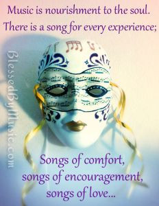 ... quotes - I feel blessed to be a singer of songs. DianeMusic.com song