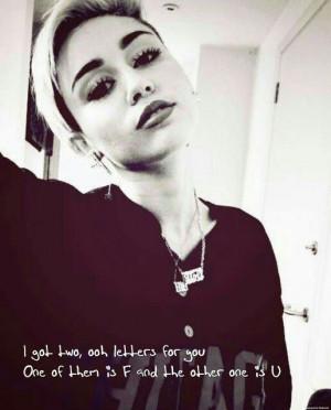 Miley Cyrus- FU- Bangerz