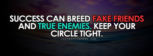Success Can Breed Fake Friends Facebook Cover Photo