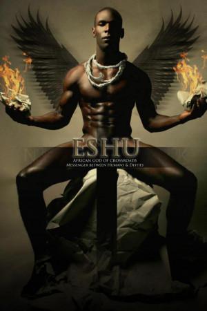 ESHU: Yoruba Orisha [god] of Crossroads - Messenger between Humans and ...