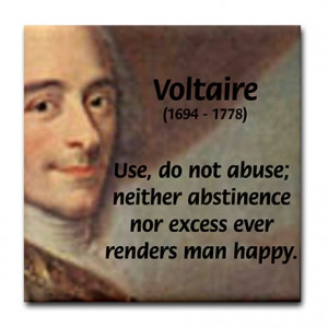 ... > Kitchen & Entertaining > French Philosopher: Voltaire Tile Coaster