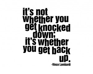 Vince Lombardi quote It's not whether you by InspirationsByAmelia