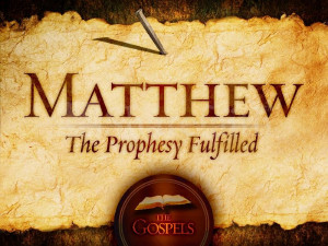 in the gospel of matthew there is specific theme of fulfillment where ...