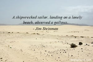 beach-A shipwrecked sailor, landing on a lonely beach, observed a ...