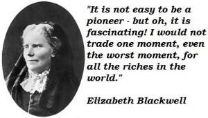 Elizabeth blackwell famous quotes 3