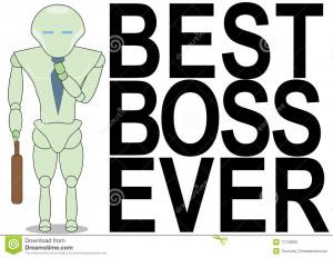 Best boss ever poster. Robot boss.