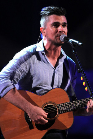 Juanes Juanes performs at the Premios Juventud 2014 Rehearsal at the