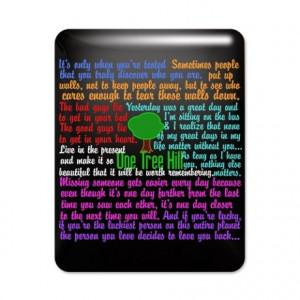One Tree Hill Quotes IPad Case.