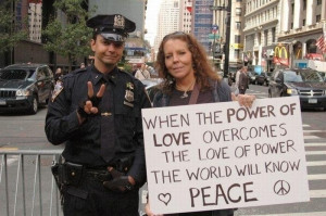 When the power of love overcomes the love of power the work will be at ...