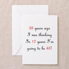 49th Birthday Math Greeting Card for