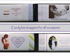... Wrappers -Fits standard Chocolate Bars *Use your own photos or quotes