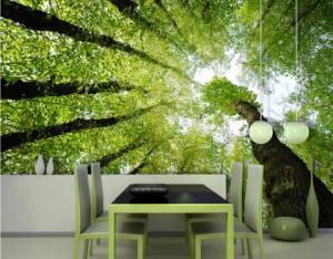 Fototapete Wald Baum Bäume