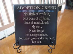 Adoption Creed Custom Quote Plaque