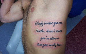 quote tattoos for men on ribs