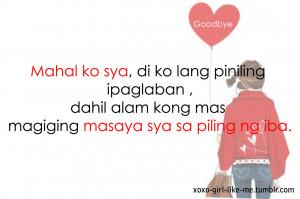 Funny Quotes About Love Tagalog Tumblr Kootation Sad