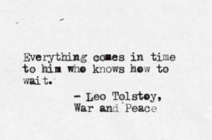 typewritten leo tolstoy war and peace quote