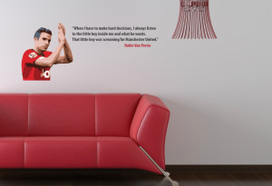 Home • Robin Van Persie Little Boy Quote Wall Sticker