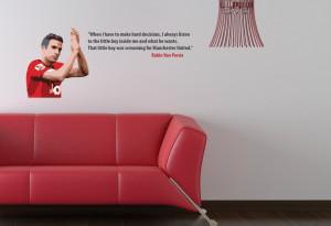 Home • Robin Van Persie Little Boy Quote Wall Sticker