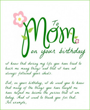 Funny Mom Birthday Quotes Funny card from adult child