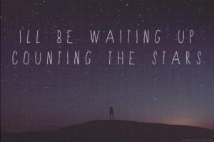 night, note, quote, sentence, stars, typographyt