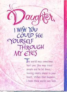 Daughter Birthday Greeting Card – Daughter I Wish You Could See ...