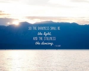 Sunset, T.S. Eliot, Quote, Poetry, Serene, Peaceful, Blue, Darkness ...