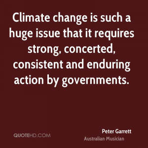 Climate Change Such Huge...