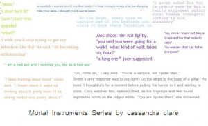 Mortal Instruments Quotes...