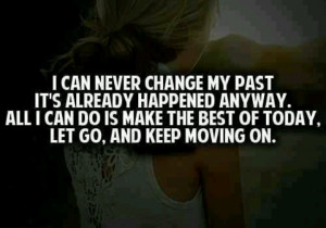 Can't change the past