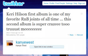 Quote of the Day: Kanye West On Keri Hilson