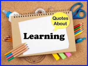 The following 2 pages contain a large list of learning quotes that are
