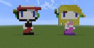 Minecraft Pixel Art Series - Quote and Curly Brace by LoneSilverwind