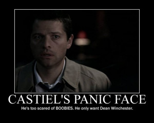 Supernatural Castiel is in a panic