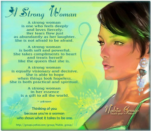 Here's to Strong Women Everywhere…