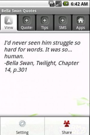 View bigger - Bella Swan Quotes for Android screenshot