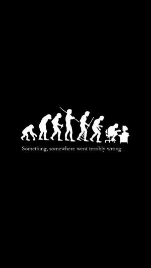 iPhone 5 Wallpaper Fun quotes evolution