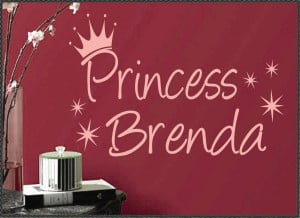 Custom Vinyl Wall Quotes Words Phrases Decals Princess Name
