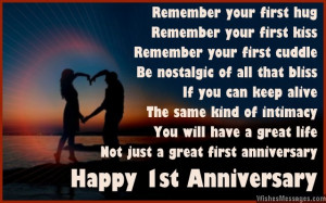 ... Anniversary Poems for Couples: Happy First Wedding Anniversary Poems