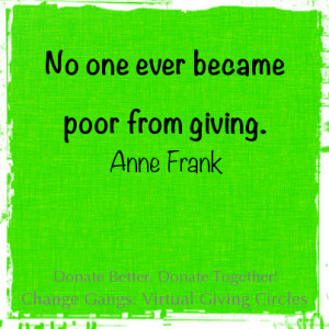 poor from giving quote