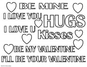 Love Coloring Pages : Printable Quotes On Valentine Coloring Pages