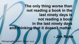 Tags: Jim Rohn , Quote , Quotes , reading books