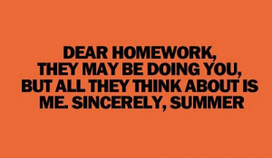 Funny photos funny homework summer quote
