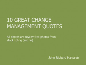 10 Great Change Management Quotes