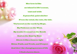 Quotes in Mother's Day Cards 'Exclusive Designs'
